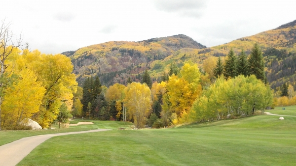 The course at Rollingstone Ranch in the fall